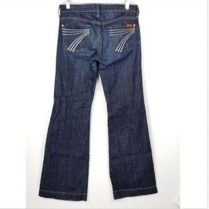 7 for All Mankind DOJO Stretch Jeans Sz 26 x 31.5